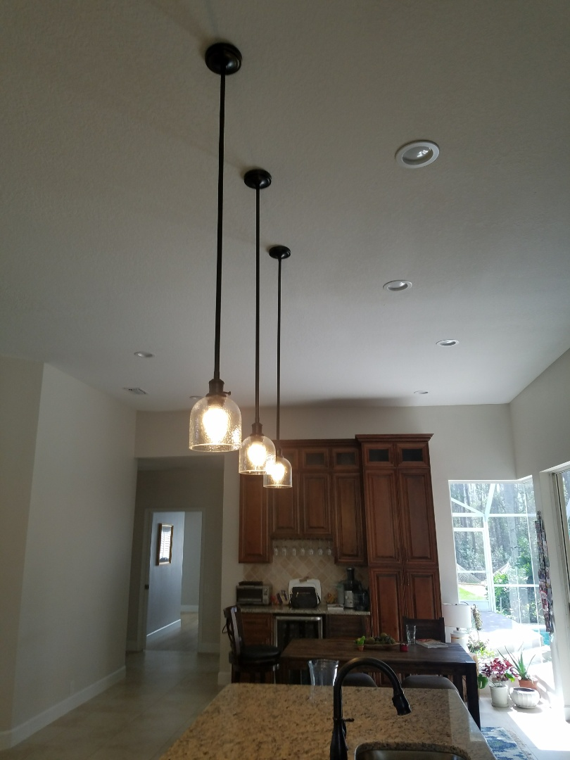 Odessa, FL - Wire for pendant lights as well as installation