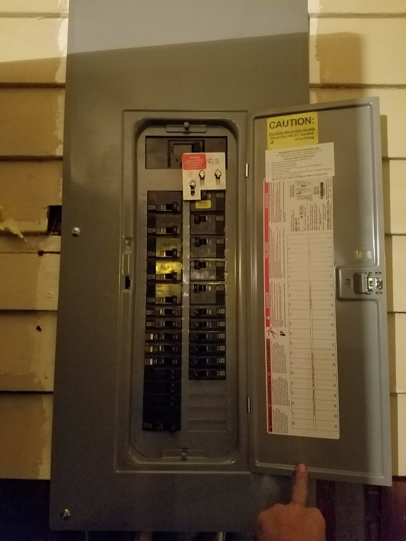 Tampa, FL - Electrical panel upgrade and transfer switch installation for generator