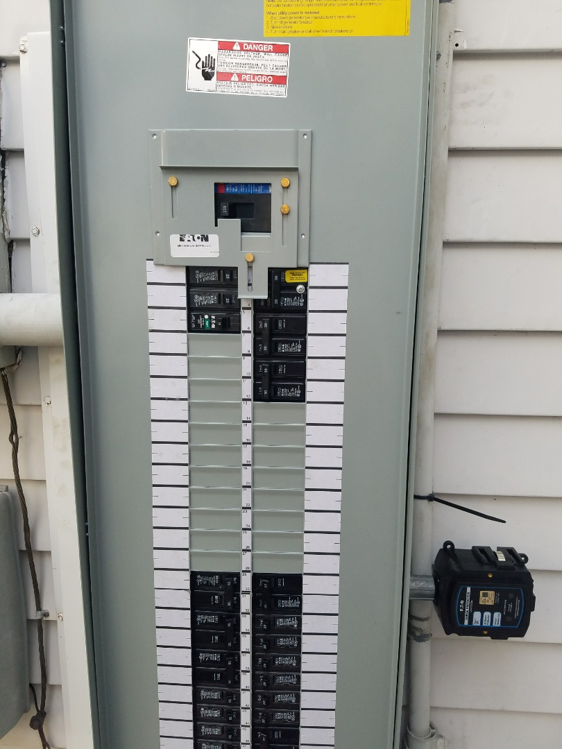 Tampa, FL - Panel upgrade  with generator transfer switch installation