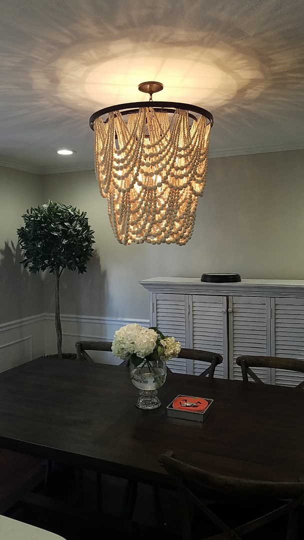 Tampa, FL - Installed chandelier in dining area.