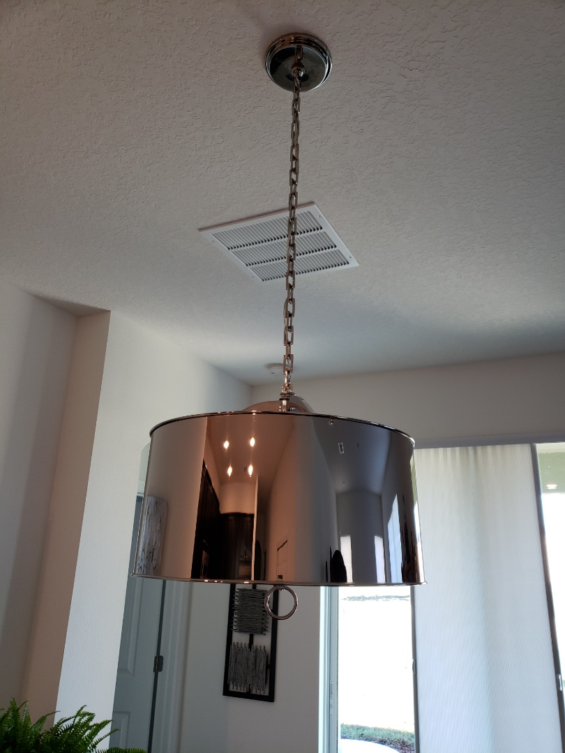 Riverview, FL - Install chandelier  fixture  over dining room table and wire for outlet