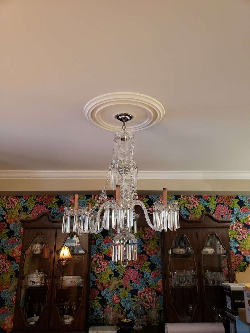 Tampa, FL - Installation  of 2 60 year old  chandeliers