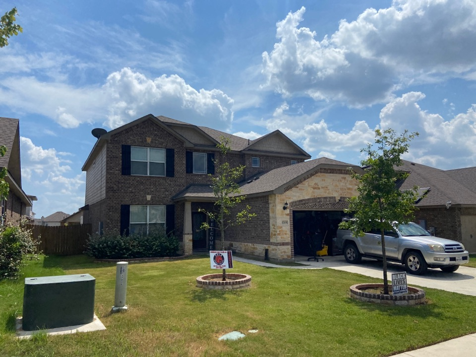 Manor, TX - Mpact Roofing out inspecting roofs and finding hail damage from the recent storms.