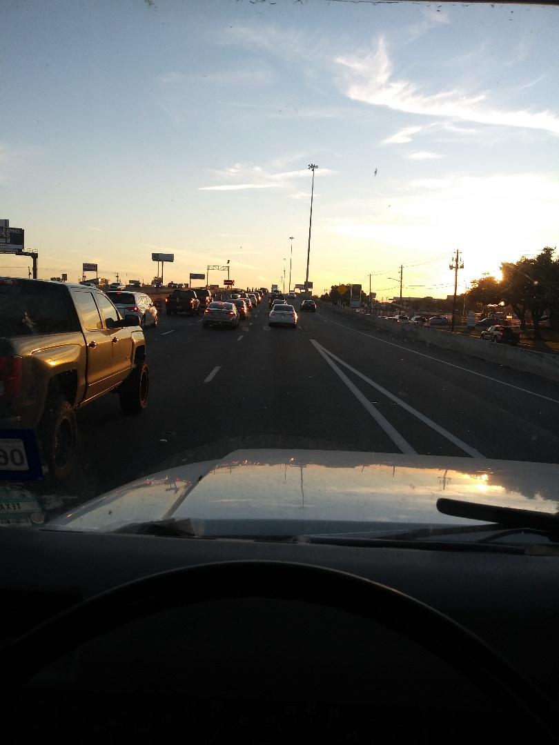 Houston, TX - Traffic on a Sunday