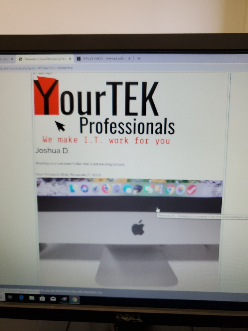 Pensacola, FL - Upgrading new YourTek site with Nearby Now! If you need a website and better SEO look us up, we'll make I.T. Work