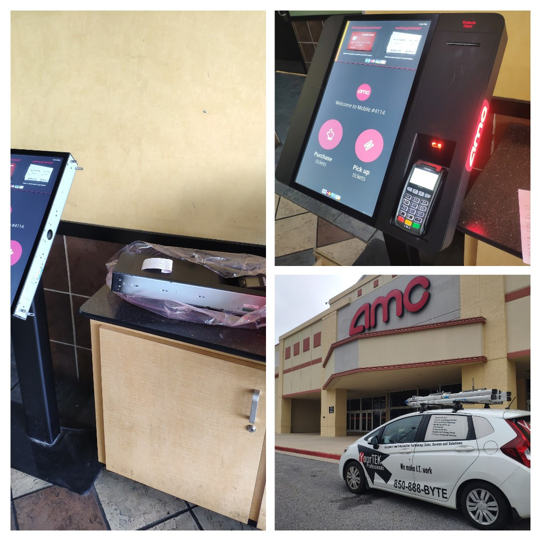Mobile, AL - Repairing ticket printer at point of sale Kiosk
