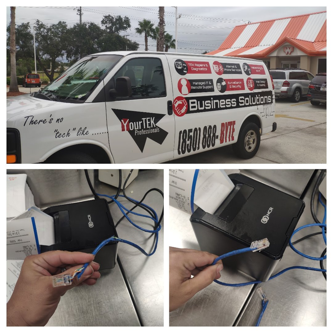 Gulf Breeze, FL - Fixing network cable on grill printer