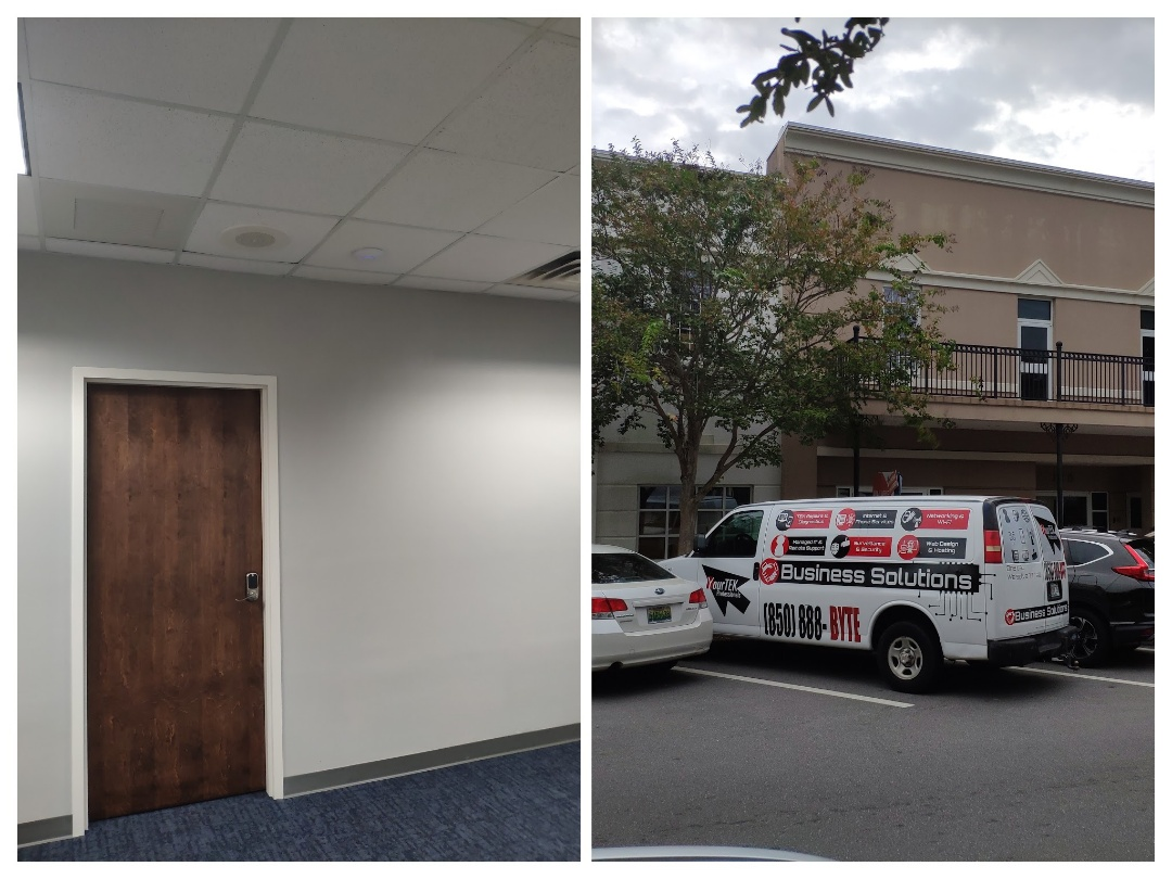 Pensacola, FL - Relocating wireless access points and speakers for executive office space building.