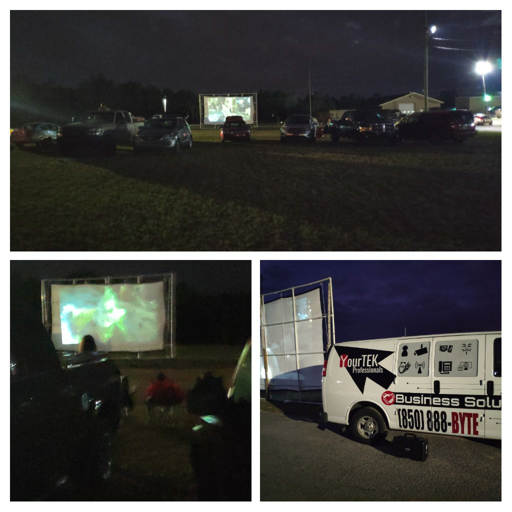 Running flicks on the field for Perdido key chamber of commerce. We are playing the Grinch tonight