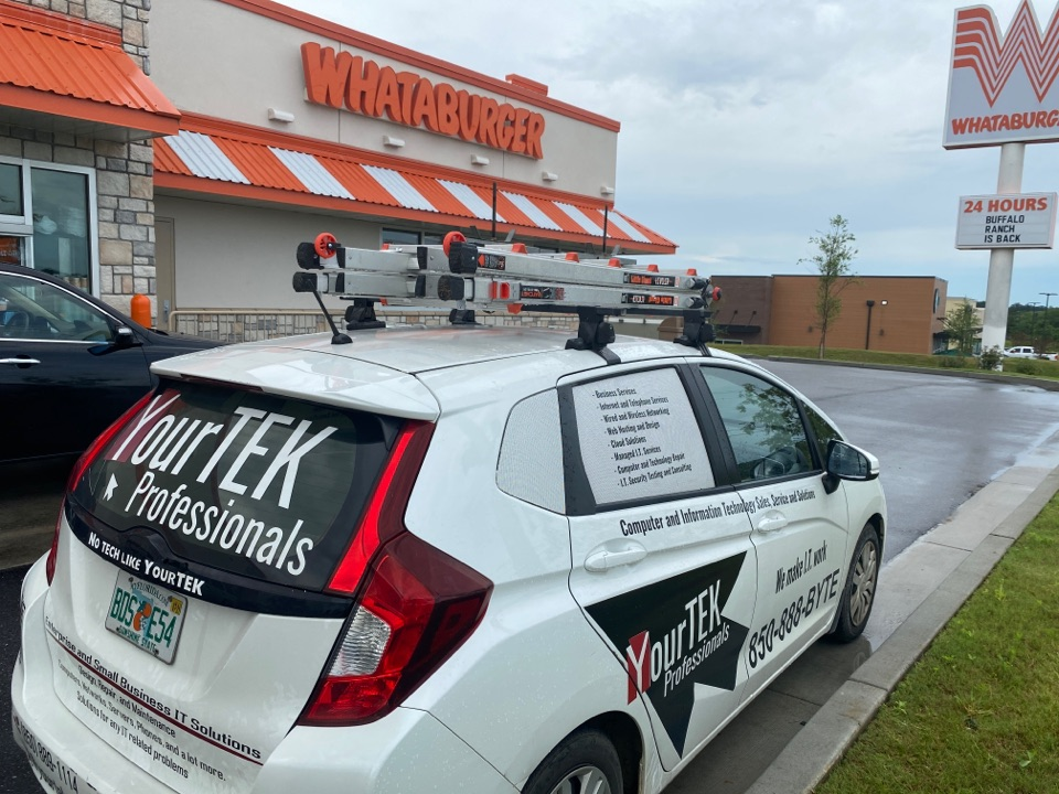 Mobile, AL - Making sure Whataburger's network is in tip-too shape!