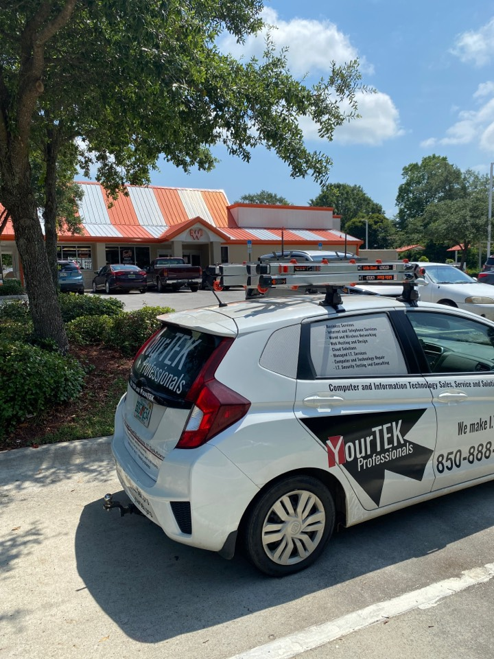 Making sure the Whataburger in Century, FL is in good shape