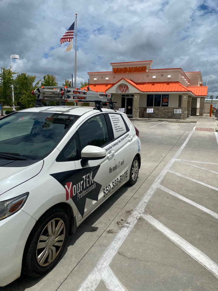 Making sure all the ticket printers are online at this Lynn Haven Whataburger