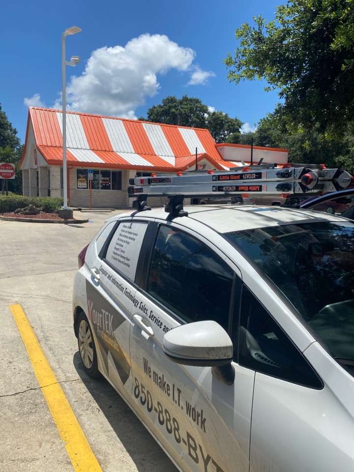 Replacing a broken cash drawer at this Whataburger on Mobile Hwy