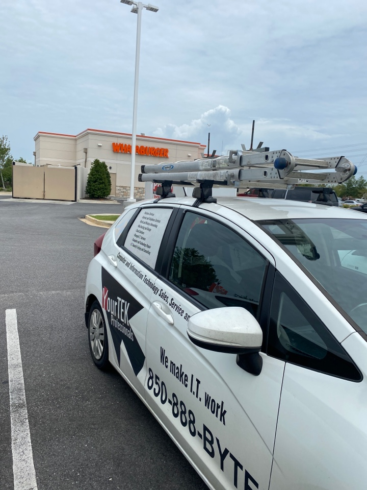 Here at the Whataburger in Daphne, AL fixing a router issue