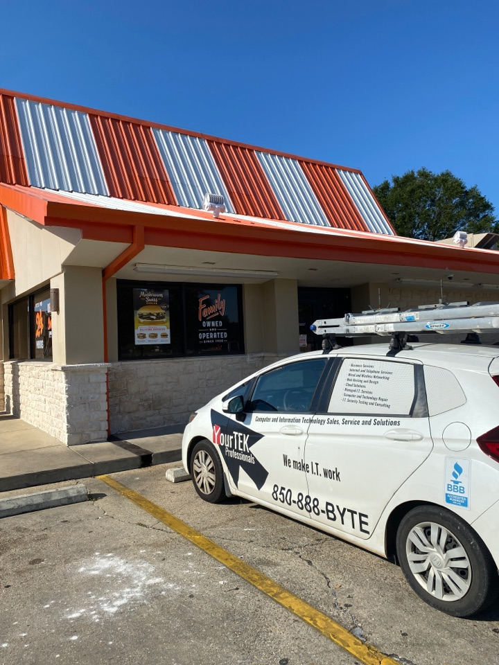 Making sure this Whataburger on New Warrington Road is able to have a productive Labor Day!