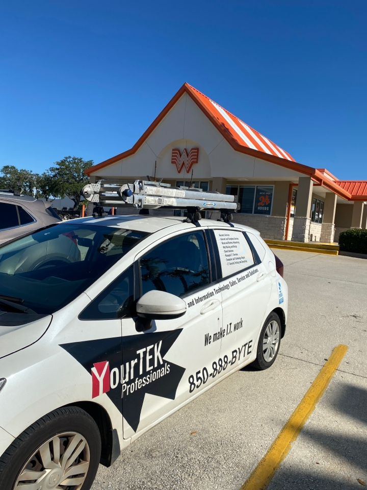 Making sure this Whataburger has no issues for the beautiful weekend ahead