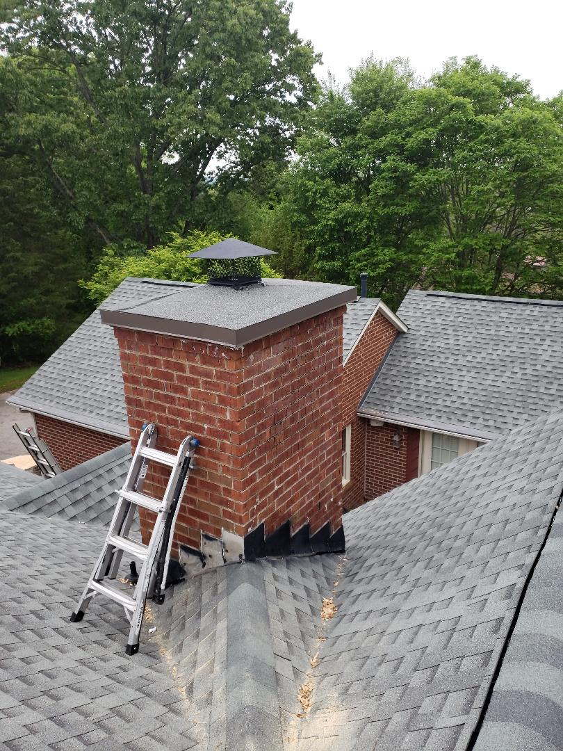 Powell, TN - We did a complete roofing system and installed GAF Timberline HD slate colored shingles and GAF Storm Guard Leak Barrier. As a GAF Master Elite Certified Contractor, Mobley Brothers Roofing and Renovation is a Knoxville roofing company with a highly trained team.