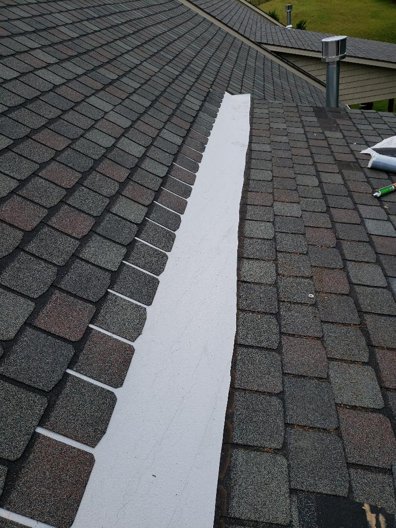 Knoxville, TN - Old damaged shingles were replaced with New England Slate color shingles by CertainTeed. A GAF Master Elite Certified Roofing Contractor Mobley Brothers Roofing and Renovation repaired the damaged roof. If you need help with your roof leak, call us today.
