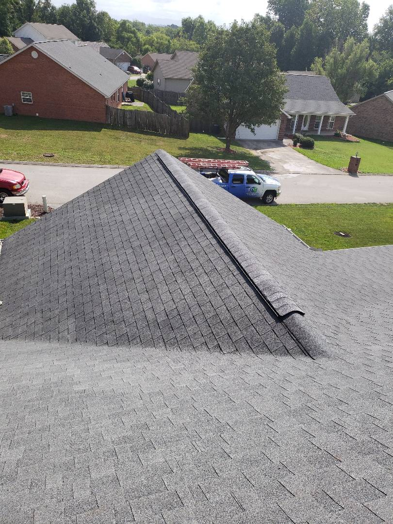 Maryville, TN - We received a call from a worried homeowner because their roof was damaged. Mobley Brothers Roofing and Renovation repaired the damaged ridge vent and restored the integrity back to the roof.