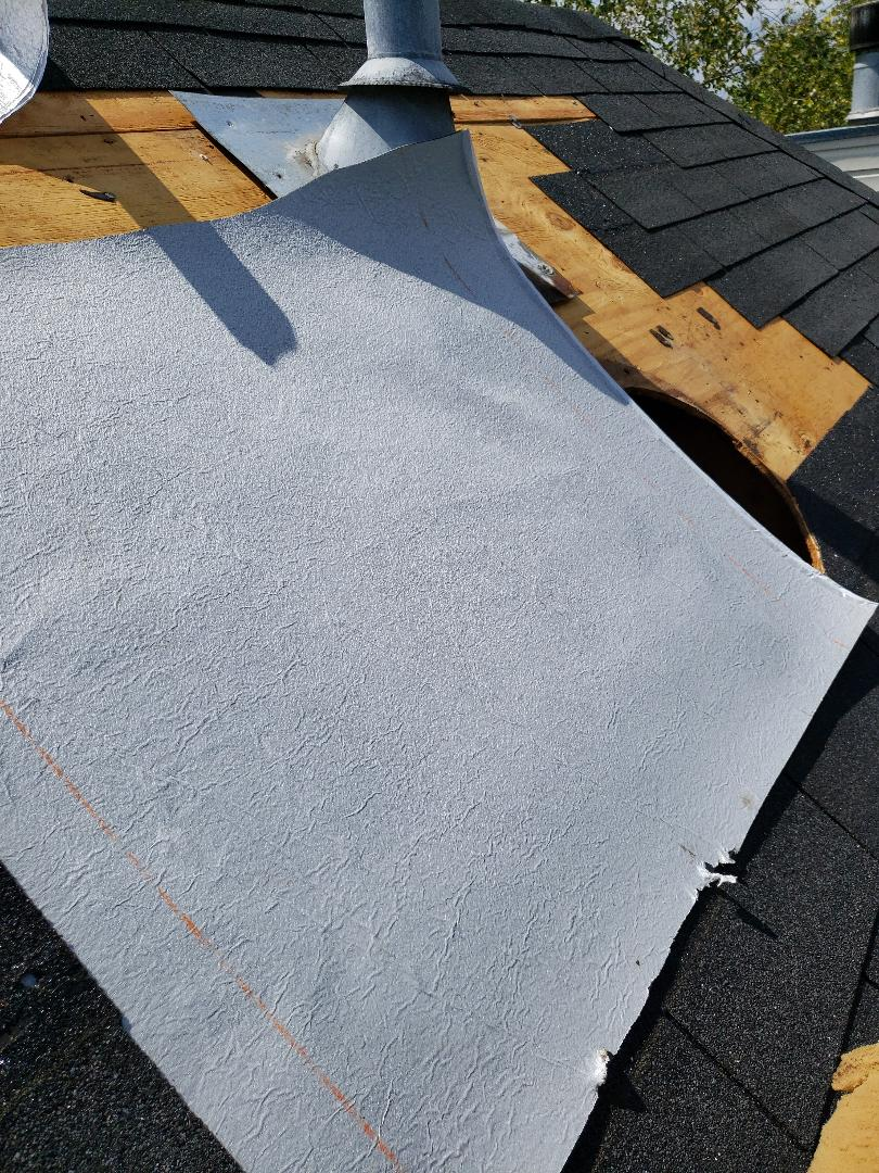 Knoxville, TN - One of this Knoxville homes roof vents had a severe leak around it that was causing significant damage to the roof. Mobley Brothers Roofing and Renovation, replaced the section of the damaged roof deck and damaged shingles. We also replaced the pipe boot and installed new vapor barrier.