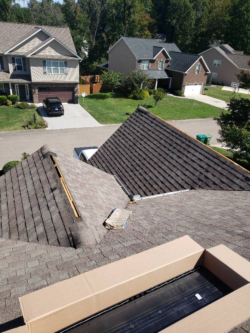 Powell, TN - A free estimate for a roof repair that was leaking was provided by Mobley Brothers Roofing and Renovation.