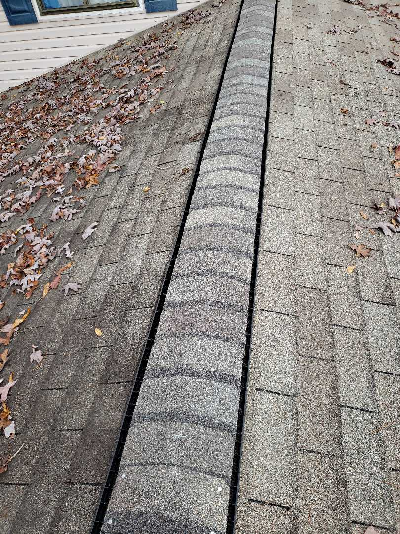 Oak Ridge, TN - A customer called us about a leak in their bedroom and a damaged ridge vent. We were able to replace the ridge cap shingles and complete the other roof repairs.