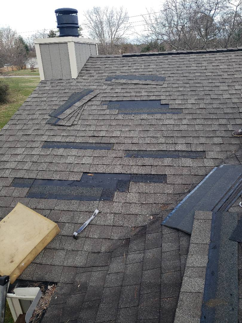 Knoxville, TN - We try to match roof shingle colors when we do a roof repair.