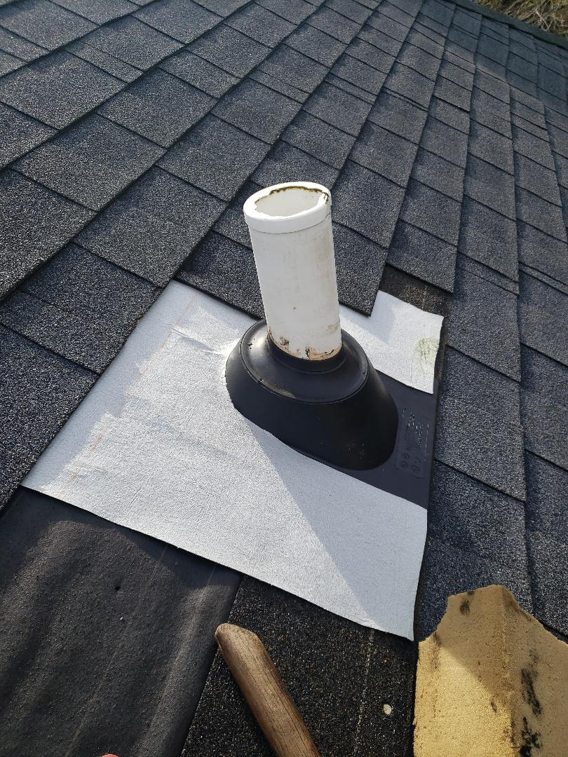 Knoxville, TN - Pipe boot repairs are something we see all the time.  We gave the homeowner a free estimate and they decided to have us complete the roof repair.
