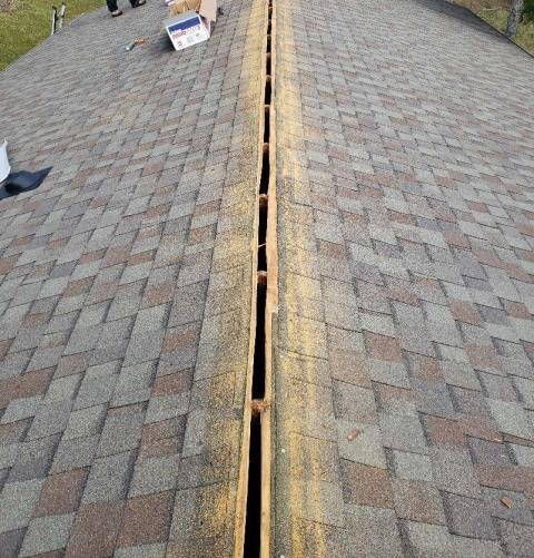 Knoxville, TN - We were called about a roof leak and discovered that the ridge cap shingles needed to be replaced. Mobley Brothers completed the roof repair and we have another happy customer.