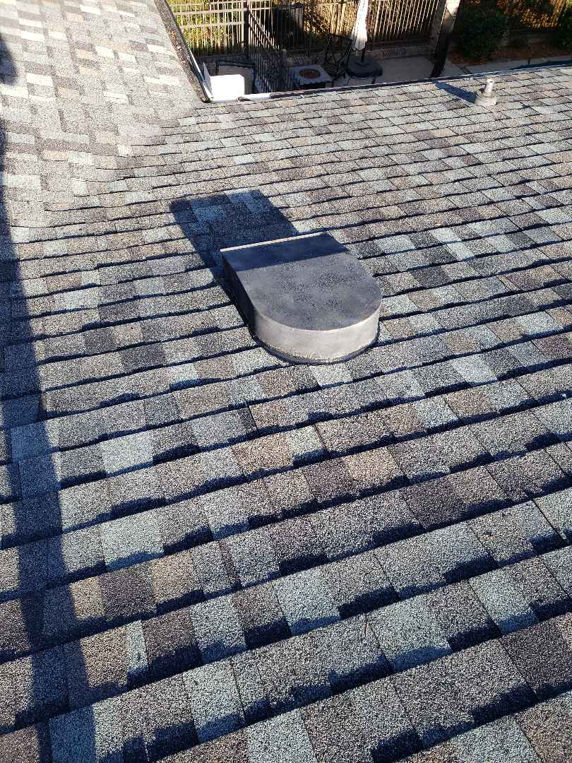Maryville, TN - Our team replaced a leaking square vent and put leak barrier down and installed Tamko dimensional shingles to complete the repair.
