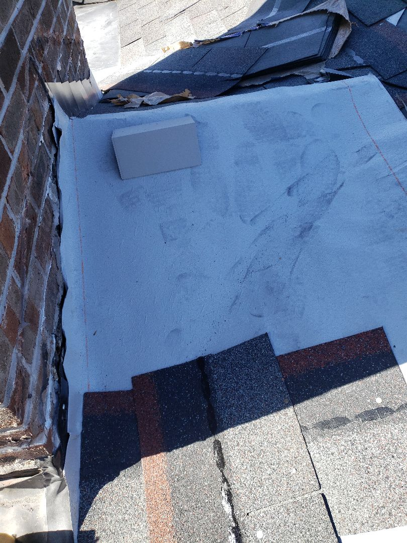 Knoxville, TN - Replaced damaged shingles and put down vapor barrier as part of this roof repair.