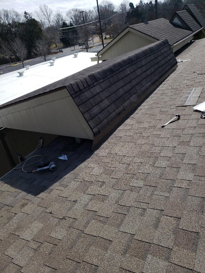 Knoxville, TN - As always our guys did an outstanding job on this roof repair and it was a mess.