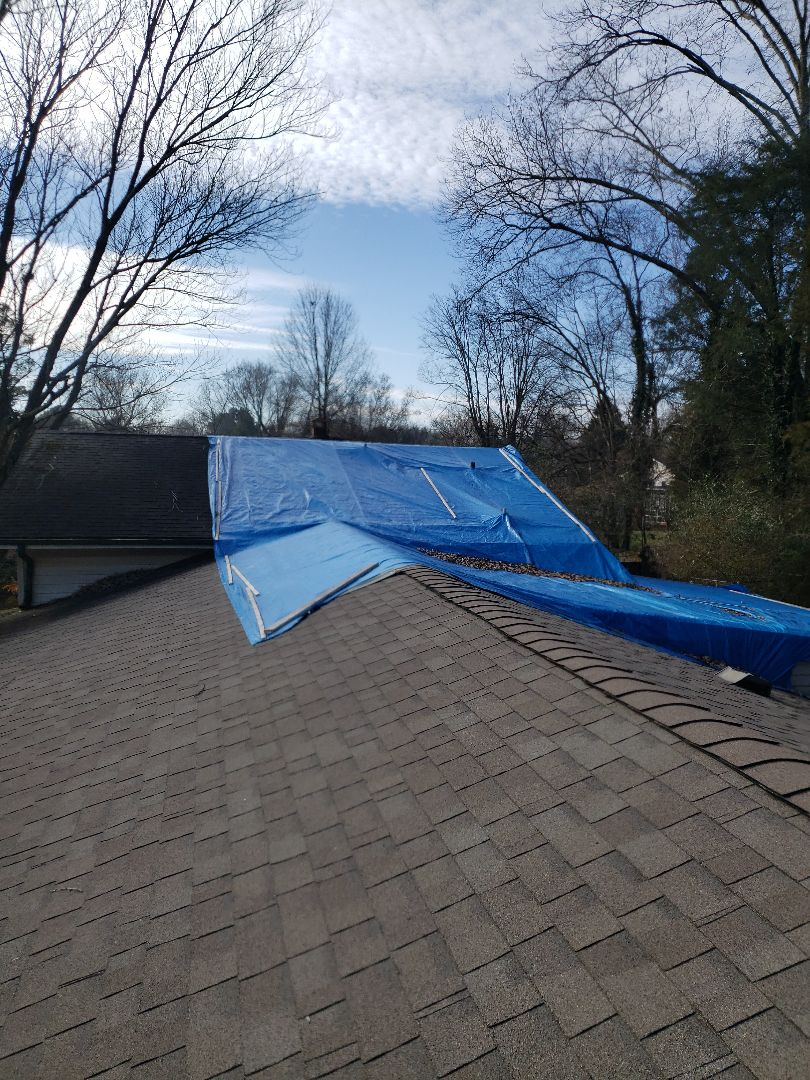 Knoxville, TN - We provided a free estimate for a roof replacement today.