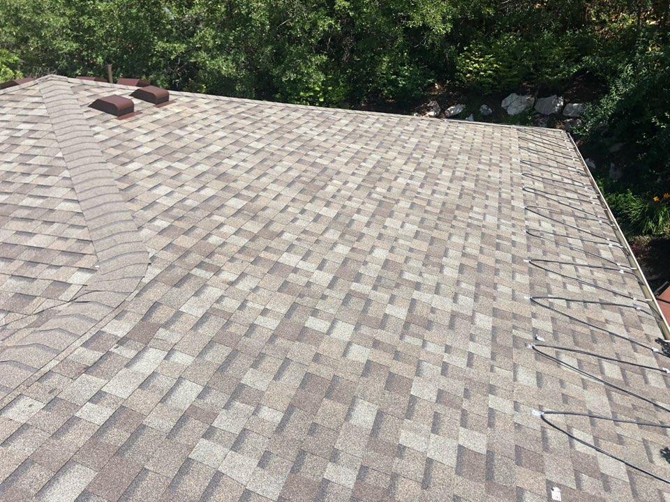 Salt Lake City, UT - In salt lake doing a roof inspection. Half tear off replaced shingles