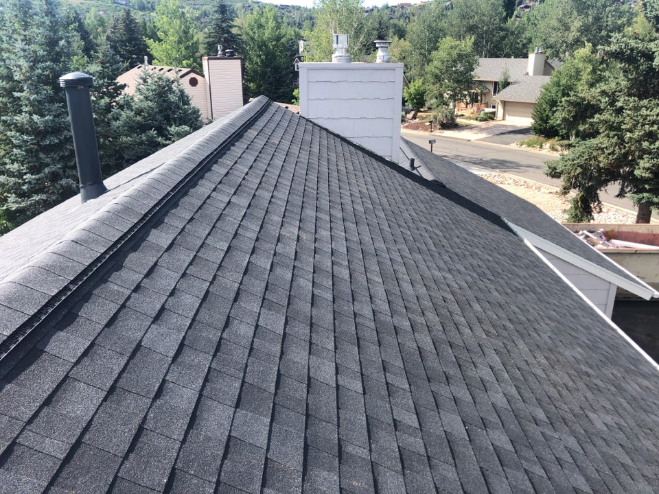 Park City, UT - In park city doing a roof inspection took off old shingles added new
