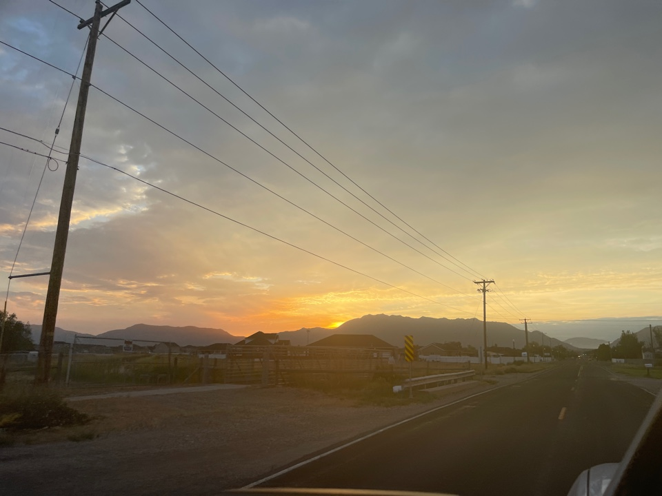 Clinton, UT - Beautiful Sunrise, time to get some new roofs installed!