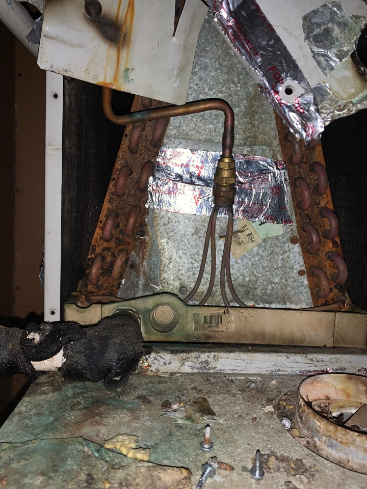 Clinton, LA - Evaporator coil rusted and stopped up in Clinton Louisiana