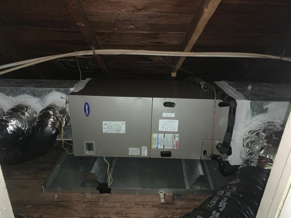 Prairieville, LA - New Carrier hvac install in Gonzales Louisiana
