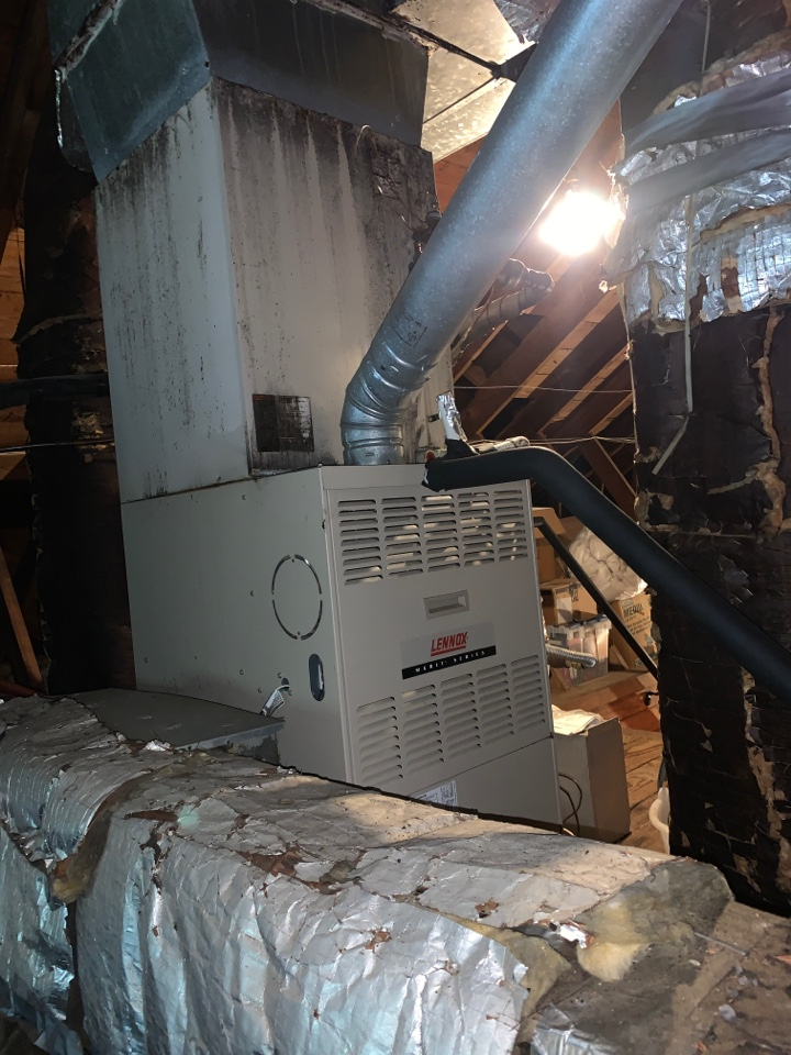 Plaquemine, LA - Working on Lennoux furnace for mold and ductwork sweating