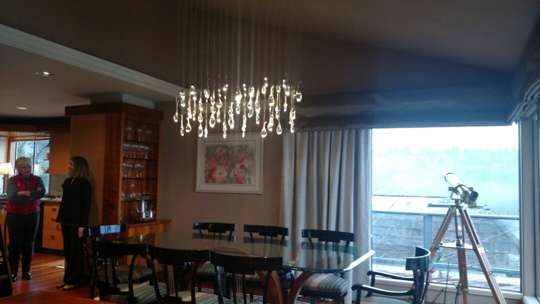Federal Way, WA - Just finished with an amazing chandelier..