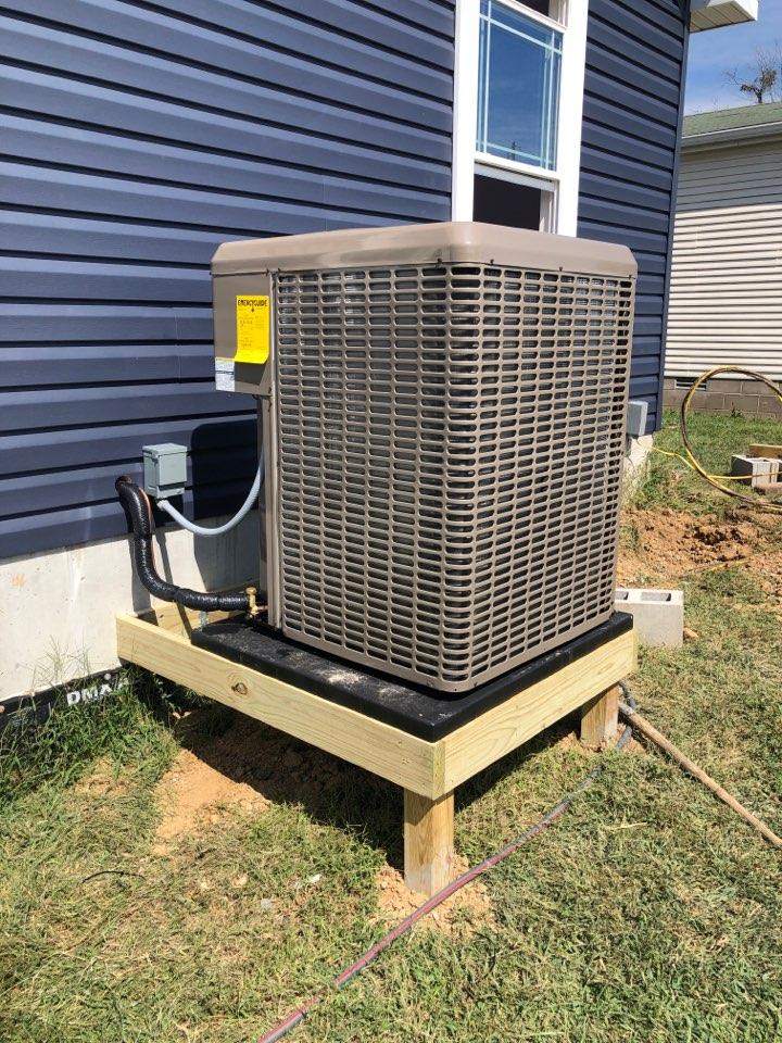 Installed 4 ton York LX series heat pump and York LP gas furnace