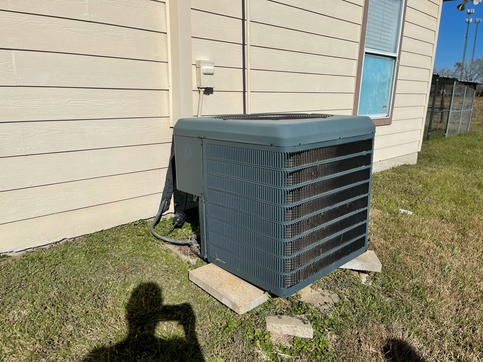 Crosby, TX - Ac service. Performed an ac repair on a Champion ac unit.