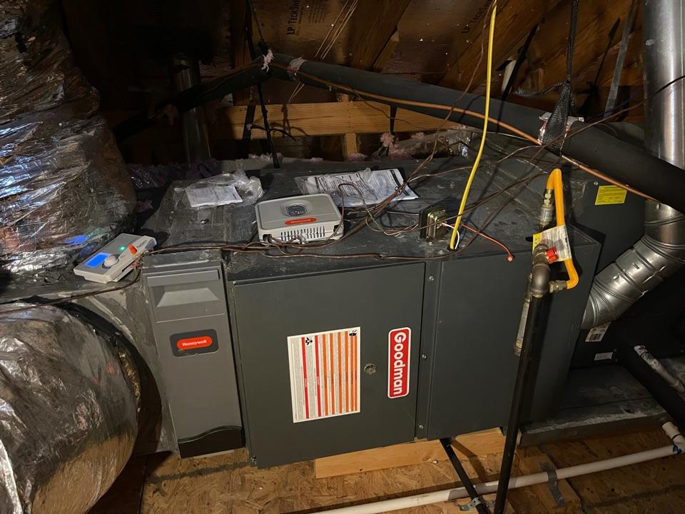 Heater service. Performed a heater repair on a Goodman furnace.