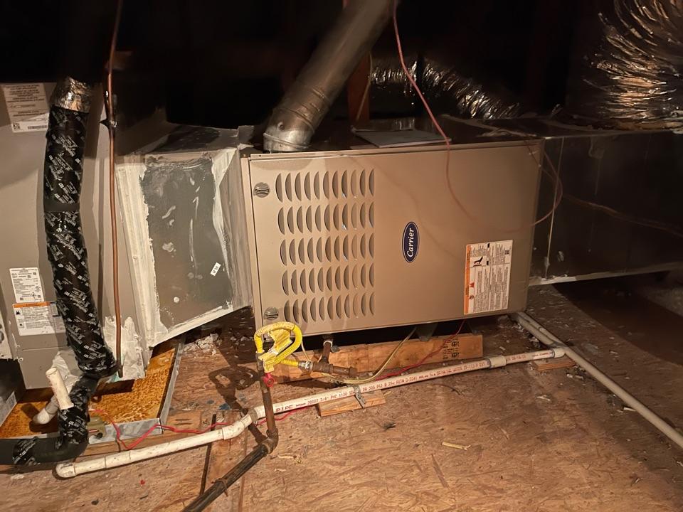Mont Belvieu, TX - Heater maintenance. Performed a heater tuneup on a Carrier furnace.