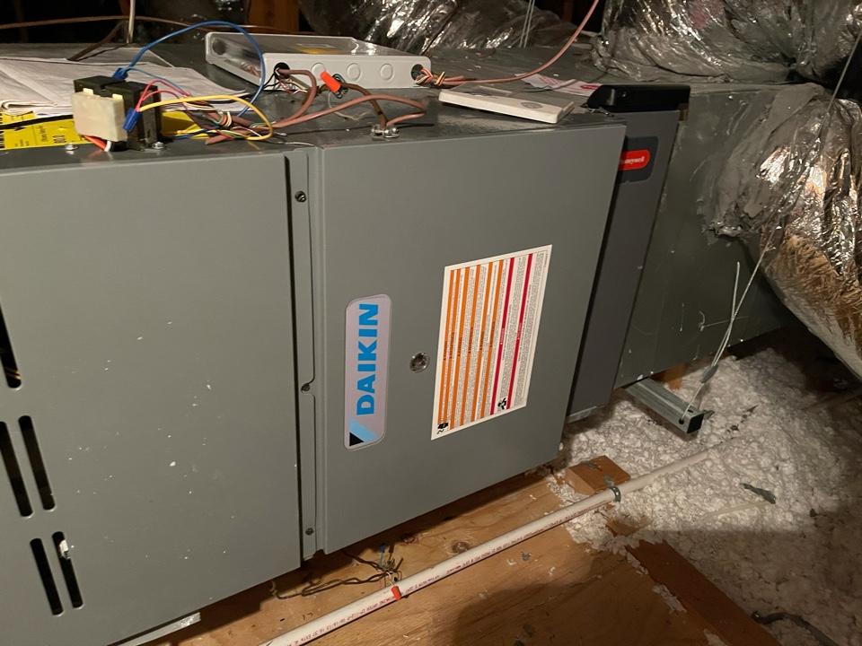 Baytown, TX - Heater service. Performed a heater repair on a Daikin furnace.