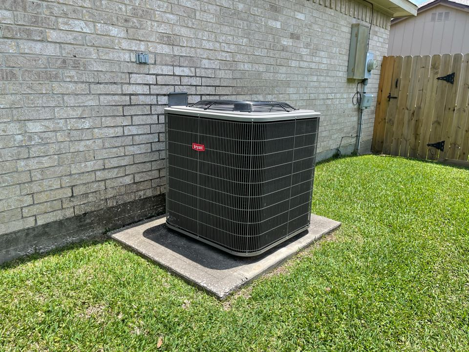 Ac service. Performed an ac repair on a Bryant ac unit.