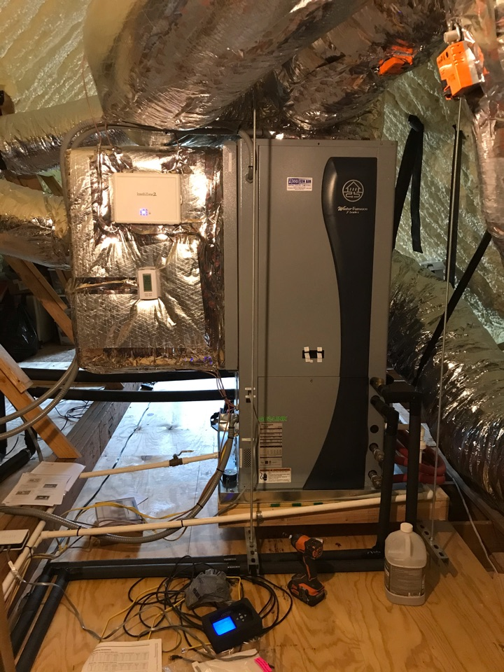Spring Hill, TN - Completed cooling maintenance on new water source heat pump (geothermal)