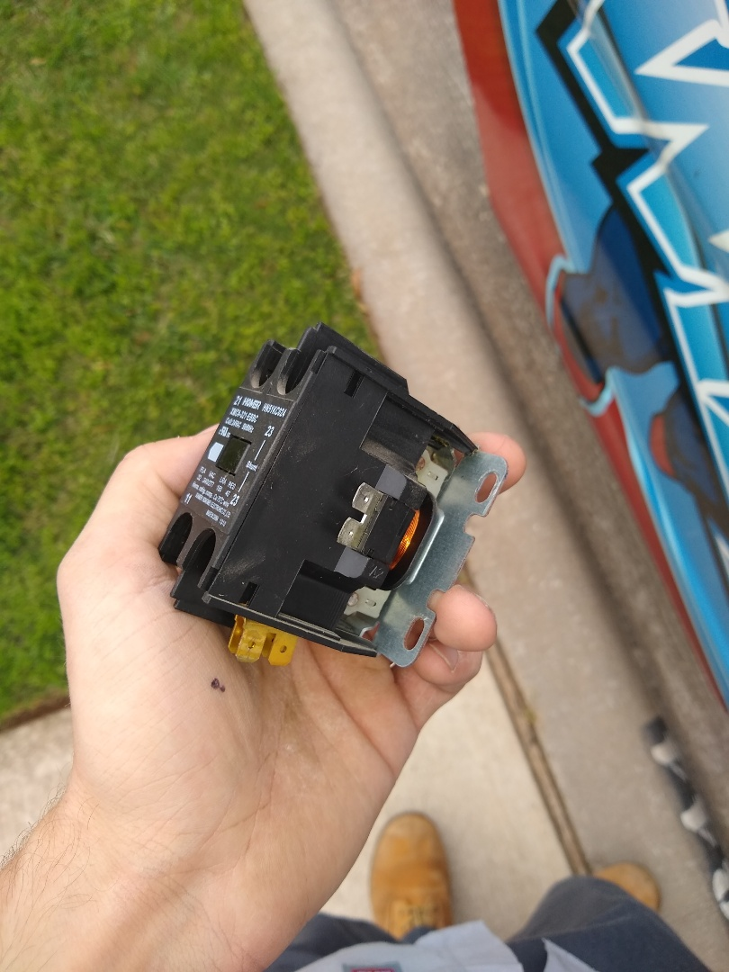 Frisco, TX - This contactor shorted and out causing the AC to not work