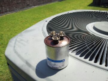 Another blown run capacitor on the same street!