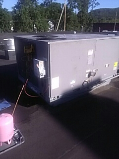 Fishkill, NY - A.c. filter dryer replacement. Commercial roof top unit.